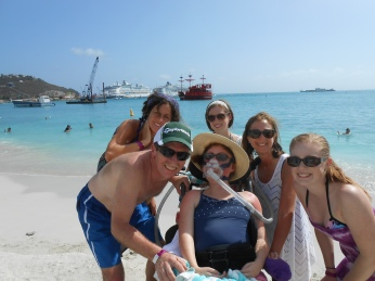 St. Maarten with Cousin Kelly!